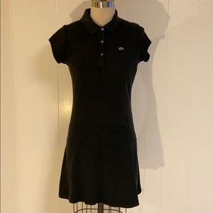 Lacoste drop waist black dress